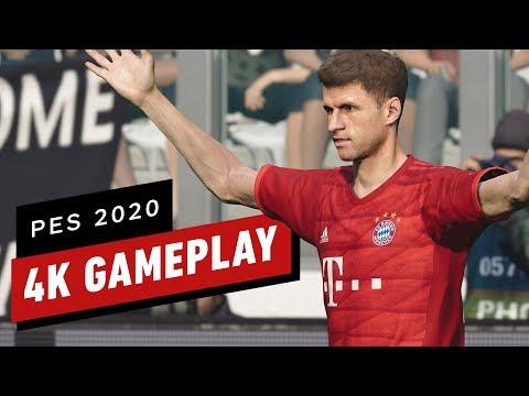 PES 2020 eFootball Pro Evolution Soccer 2020: A Full Match of 4K Gameplay