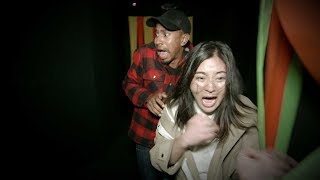 Kalen chooses trick instead of treat when he surprises his Producer Janet with a trip through a killer-clown-themed maze at Universal Studios!  #KalenAllen #TheEllenShow #Ellen
