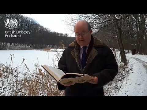 """Ziua Culturii Naționale - Paul Brummell, ambasadorul Marii Britanii la București, citește poezia """"Lacul"""" de Mihai Eminescu"""
