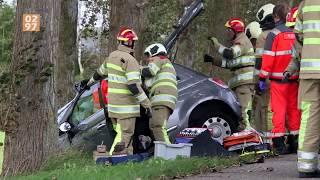 Bijrijder klem in auto na ongeluk Abcoude