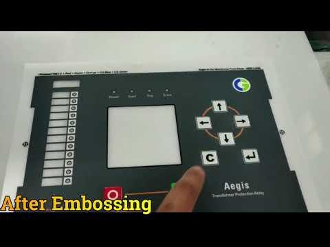 Polyester Screen-Printing Membrane Keypad Sticker