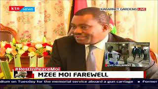 JB Muturi and Keneth Lusaka visit Moi's family at Kabarnet gardens to condole with the family