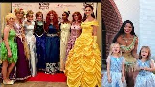 Disney Princess Party Belle Tinker Bell Cinderella Ariel Pocahontas Elsa Anna Tiana Rapunzel Merida