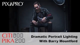 Dramatic Portrait Lighting Set Up   With Barry Mountford