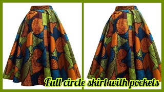 HOW TO MAKE A FULL CIRCLE SKIRT | 360 degree skirt | TAYLORMADE DESIGNS
