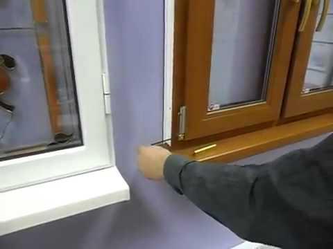 Самостоятельная регулировка пластикового окна