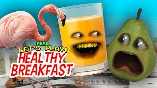 Pear FORCED to Play - Healthy Breakfast!!