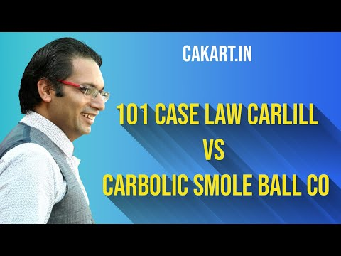 101 case law carlill vs carbolic smole ball co