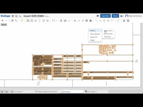 importing dxf- file into drawing for creating an template — Onshape