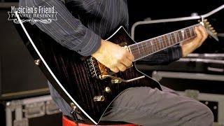 Jackson Custom Select Kelly Flat Top Electric Guitar, Transparent Black