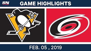 NHL Highlights | Hurricanes vs. Penguins - Feb. 5, 2019
