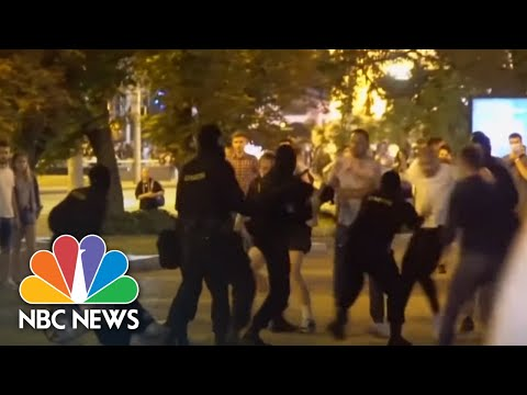 Violence Spills Onto Streets Of Belarus After Contested Presidential Election | NBC News NOW