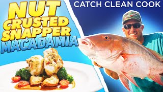 macadamia nut crusted snapper {Catch Clean Cook} yellowtail and mutton