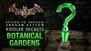 Batman: Return To Arkham Asylum - Riddlers Challenge - Botanical Gardens (All Collectibles)