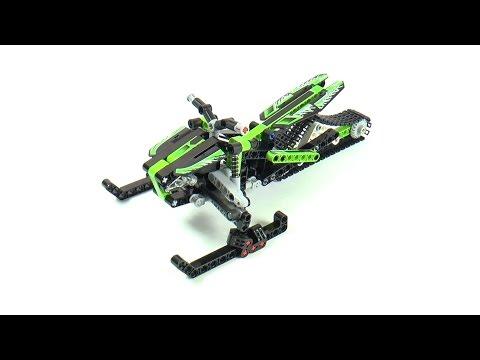 Vidéo LEGO Technic 42021 : La moto des neiges