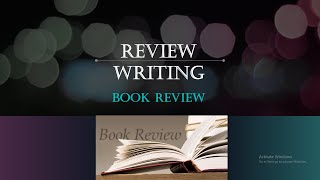 Review Writing Session 2 Book Review, The Structure Of A Book Review