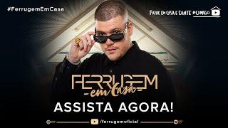 Domingo, dia 19, às 16h, tem live Ferrugem Em Casa. Quem está com saudades de uma roda de samba?!! #FiqueEmCasa #Comigo