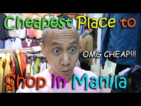 THE CHEAPEST PLACE TO SHOP IN MANILA!   March 4th, 2017   Vlog #44