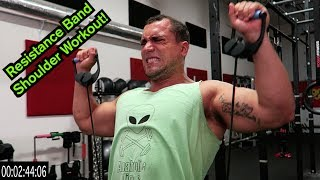 Intense 5 Minute Resistance Band Shoulder Workout by Anabolic Aliens