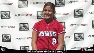 2022 Megan Yorba Slapper and Lefty Pitcher Softball Skills Video - Firecrackers