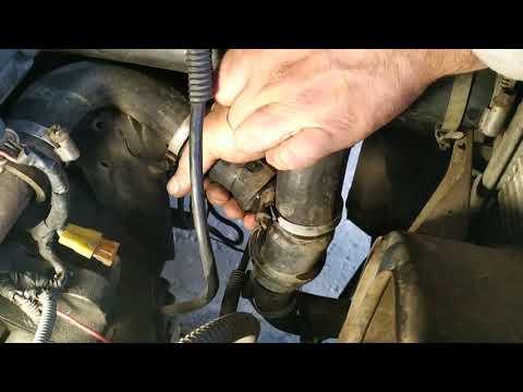 замена термостата, переделка шланг системы охлаждения от перетирания сенс