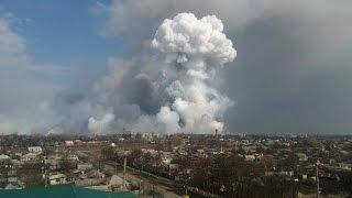 Взрывы на складе боеприпасов под Харьковом