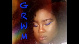 chit chat GRWM - where have I been? blue eyeliner?!
