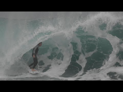 Fun session of surfing at Bar Beach