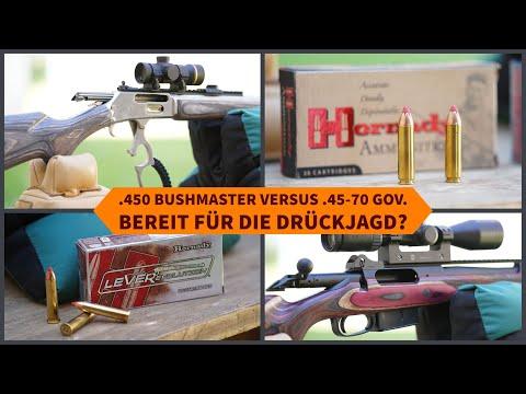 drückjagd: Kaliber-Test mit Video: Unique Alpine in .450 Bushmaster vs. Marlin in .45-70 Gov. – geeignet für die Drückjagd?