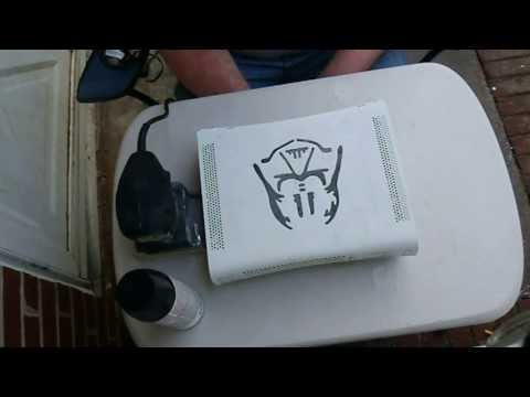 How to paint your Xbox 360 fat console. Case and shell modding tutorial