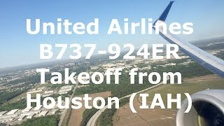 United Airlines Boeing 737-924(ER) [N68817] Takeoff from Houston (IAH)