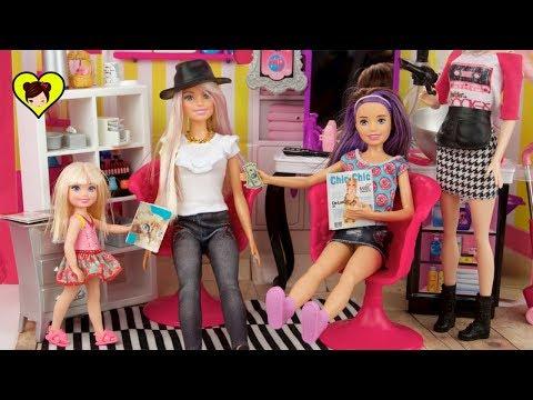Barbie y Sus Hermanas se Pintan el Cabello y a  Chelsea no le gusta!