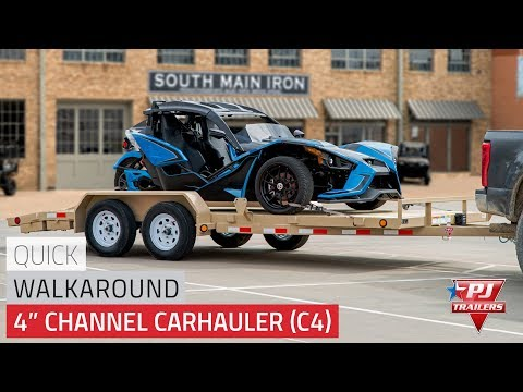 2021 PJ Trailers 4 in. Channel Carhauler (C4) 18 ft. in Hillsboro, Wisconsin - Video 1