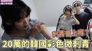20萬的韓國彩色微刺青🇰🇷又回來找韓國IG網紅歐巴刺!|一隻阿圓