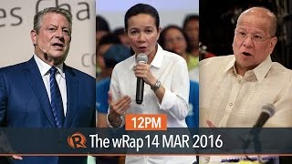 Poe Overtakes Binay, SMC Telstra Deal, Al Gore | 12PM WRap
