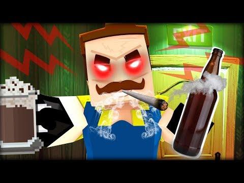 NEJVÍC AGRESIVNÍ Ahoj Sousede v Minecraftu !! Manželské Hádky + Alkohol!
