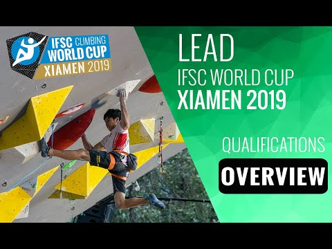 IFSC Climbing World Cup Xiamen 2019 - Lead - Qualification Overview
