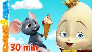 🤣 Humpty Dumpty & More Nursery Rhymes | Baby Songs by Dave and Ava 🤣