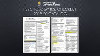 Psychology BS 2019 20 Checklist