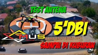 Test Jarak ANTENA 5 Dbi MJX BUGS 5W