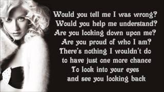Christina Aguilera - Hurt Lyrics Video