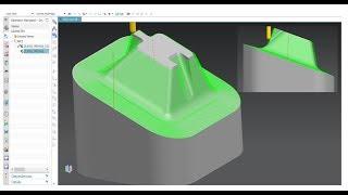 Siemens NX CAM 5 axis tutorial Part1 3+2 axis roughing