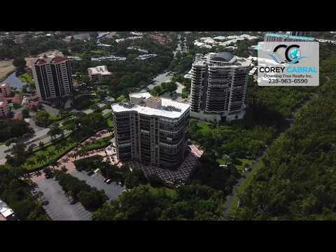 Pelican Bay Calais Naples Florida 360 degree fly over video