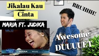 "MARIA Ft. JUDIKA   ""JIKALAU KAU CINTA""   Top 4   Indonesian Idol 2018 | (Reaction Video)"