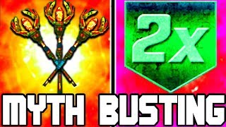 DOUBLE UPGRADED STAFFS!!! | CALL OF DUTY ZOMBIES | MYTH BUSTING MONDAYS #121