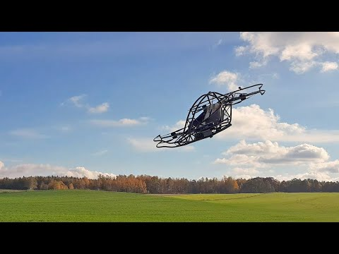 Test Flying the Single Seater Drone Jetson ONE