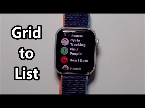 Apple Watch How to Change Apps Grid to List View (Series 6 & others)