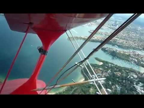 Avión rojo sobre Sidney