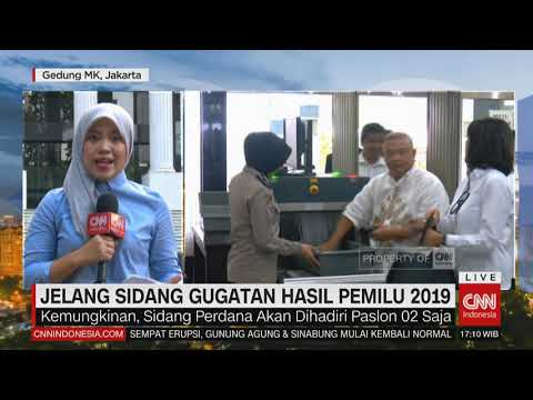 MK Himbau Kedua Paslon Hadir di Sidang Gugatan Pemilu 2019