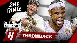 LeBron James 2nd Championship, Full Series Highlights vs Spurs (2013 NBA Finals) - Finals MVP! HD